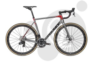 Ridley Helium SLX Disc Ultegra (GREY-BLACK-CANDY RED)